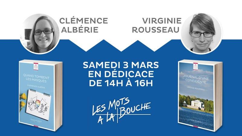 Clémence Albérie et Virginie Rousseau en séance de dédicaces