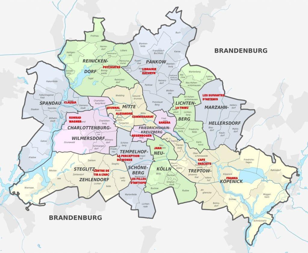 Quartiers de Berlin annotés - Les Suivantes d'Artémis - Polar Lesbien de Gabrielle Hautemer